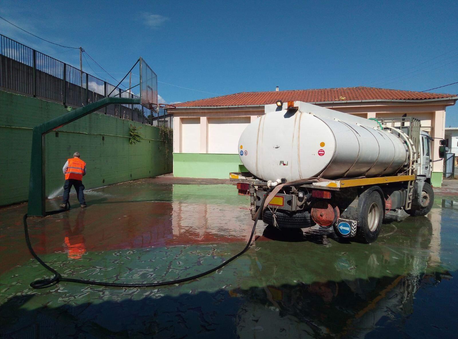 Δήμος Θηβαίων: Ενέργειες καθαριότητας Σχολικών Μονάδων Πρωτοβάθμιας Εκπαίδευσης