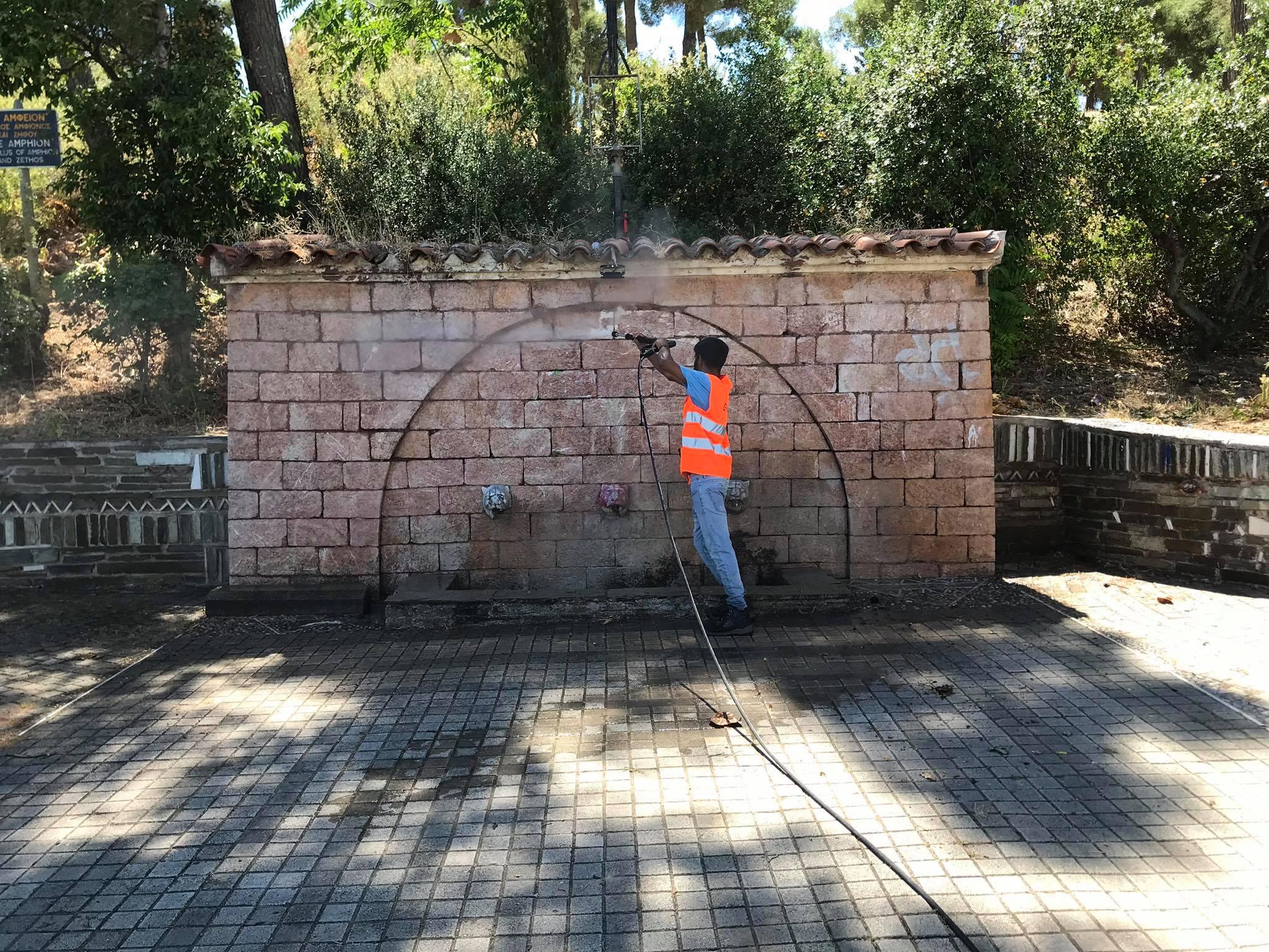 Δήμος Θηβαίων: Δράση «Αντιγκράφιτι» με το νέο μηχάνημα πλύσης ...