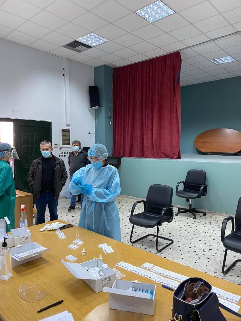 Δήμος Θηβαίων: Αρνητικά όλα τα rapid tests στη Τ.Κ. Δομβραίνας